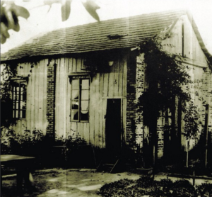 The first factory  of the harmonicas Hering in August, 4th of 1923. Blumenau- Santa Catarina. Brazil